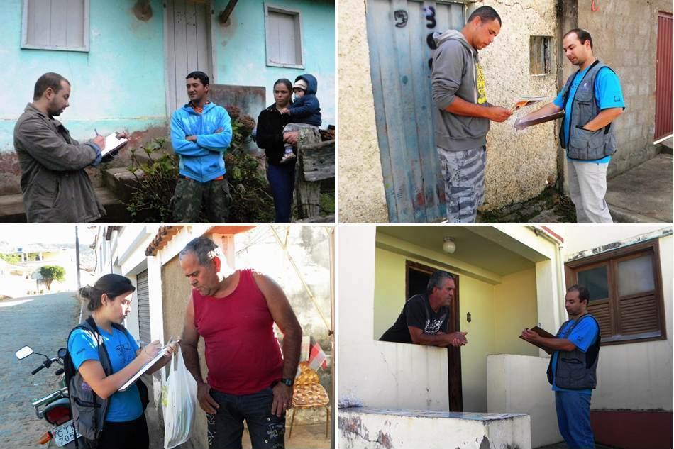 Aplicação de questionários com moradores ribeirinhos