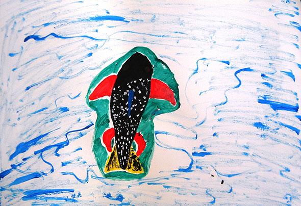 Pintura de aluno do Centro Pedagógico da UFMG