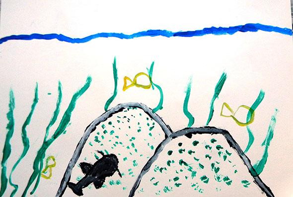 Pintura de aluno do Colégio Pitágoras