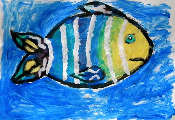 Pintura de aluno da E.M. Antônio Aleixo