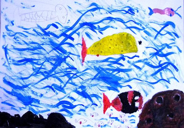 Pintura de aluno da E.E. Mauricio Zakhia (manhã)
