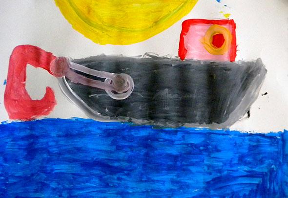 Pintura de aluno da E.M. Manuel Pereira Ramalho (tarde)