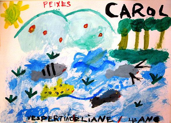 Pintura de aluno da - E.M. Clotilde de Simone - Turno Vespertino