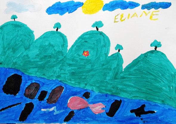 Pintura de aluno da E.E. Frei José Wulff