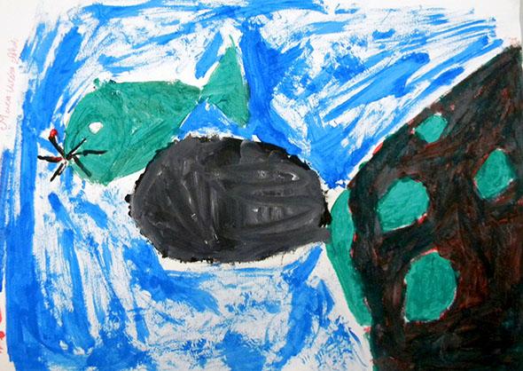 Pintura de aluno da E.M. Prof. José Estevão (manhã)