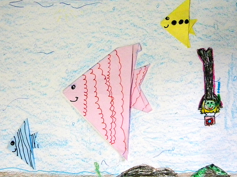 15 - Itutinga - Escola Municipal Erineia Maria Inacia de Carvalho Silva origami