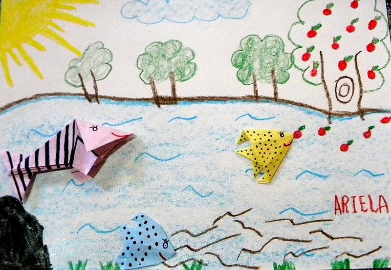 17 - Lavras - Escoal Municipal Sebastião Ferreira (Oficina 1) origami