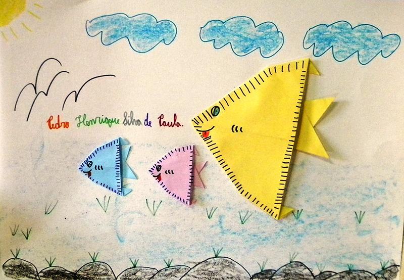 18 - Lavras - Escola Municipal Sebastião Ferreira (Oficina 2) origami